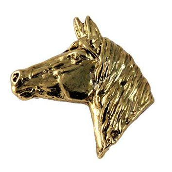 Creative Pewter Designs Pewter Horse Head Handcrafted Lapel Pin Brooch M138