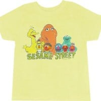 Sesame Street Group Yellow T-shirt