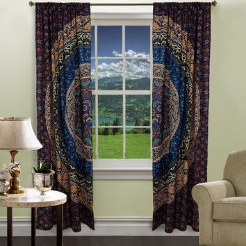 Hippie Tapestry Door Curtain Window Wall Curtains
