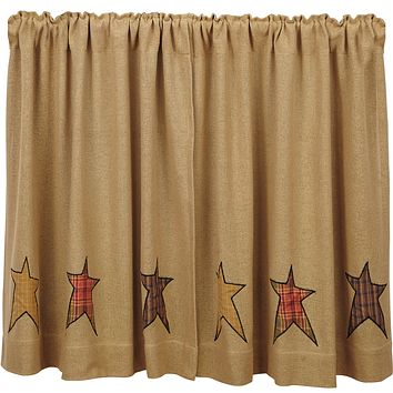 Stratton Burlap Tier Curtains 36""