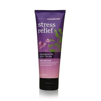 Bath & Body Works AROMATHERAPY Stress Relief EUCALYPTUS TEA Body Cream 8 oz