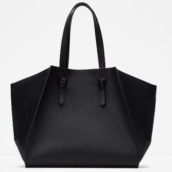 Women's Ladies Designer Leather Zara/Revolve Style Celebrity Tote Bag Smile Shoulder Handbag [6581393735]