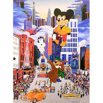 Macy's Thanksgiving Day Parade - Limited Edition Lithograph Print on Paper by Melanie Taylor Kent
