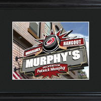NHL Pub Print in Wood Frame - Hurricanes
