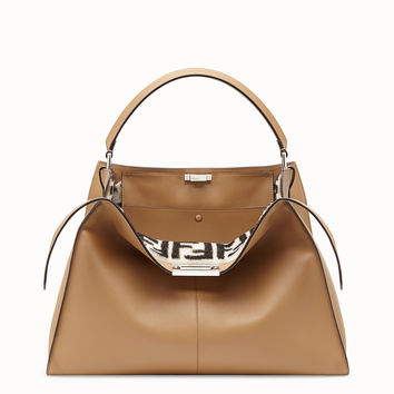 Beige leather bag - PEEKABOO X-LITE | Fendi | Fendi Online Store