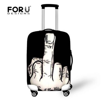 Cool Middle Finger 18-30 Inch Travel Accessories Waterproof Suitcase Protective Dust-Proof Cover Luggage Bag Rain Cover Retail