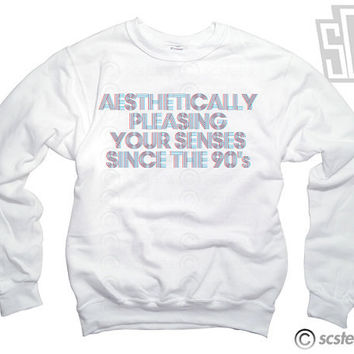 Aesthetically Pleasing Your Senses Since the 90's Sweatshirt x Jumper x Sweater 067