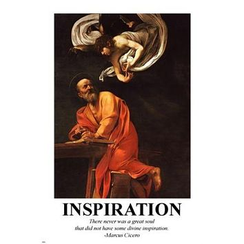 CLASSIC Inspiration with Matthew and Angel POSTER 24X36 Christianity GOD