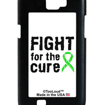 Fight for the Cure - Lime Green Ribbon Lyme Disease Galaxy Note 2 Case  by TooLoud