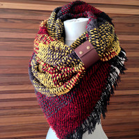 Blanket Scarf Chunky Oversized Blanket Scarf Winter Scarf Soft and Cozy Oversize Scarf Gift For Women Wool Scarf Valentines Gifts for Her