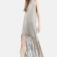 Women's Topshop Sleeveless Fringe Dress,