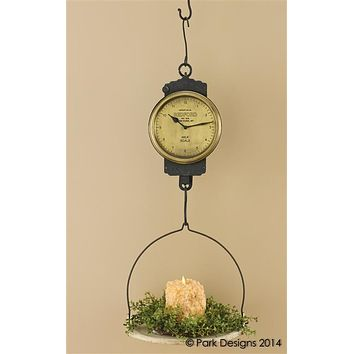 Antique Inspired Iron Hanging Scale Clock