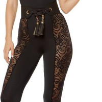 Roma RM-3402 Jumpsuit with Laced Side Leg Panels