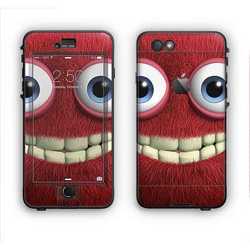 The Red Smiling Fuzzy Wuzzy Apple iPhone 6 LifeProof Nuud Case Skin Set