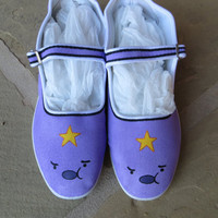 Hand Painted Shoes - Lumpy Space Princess - Adventure Time