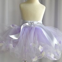 Lavender Bubble Tutu filled with rose petals  by TutusChic on Etsy