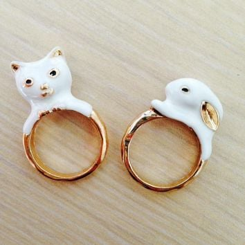 Cat or Rabbit Finger Ring