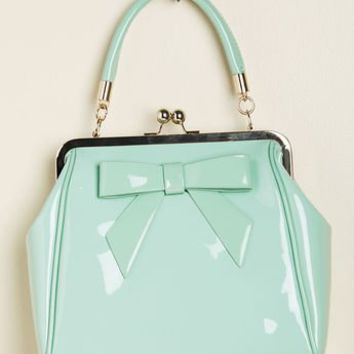 Banned High-Shine Profile Bag in Mint