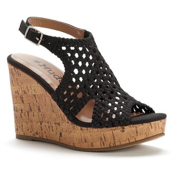 Mudd Women's Peep-Toe Platform Wedge Sandals