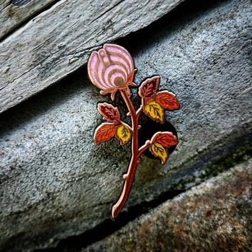 The Pink Autumn Rosebud Nectar Flower Bassnectar Hat Pin