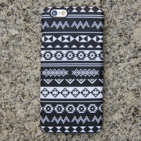 Black White Tribal iPhone 6s Case iPhone 6 plus Ethnic iPhone 5S 5 5c iPhone 4S/4 Case Aztec Samsung Galaxy S6 edge S6 S5 S4 Note 3 Case 024