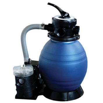 "12"" Top-Mount Above-Ground Swimming Pool and Spa Sand Filter and .25 HP Pump System"