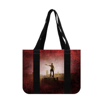 The Walking Dead Rick Grimes Andrew Lincoln Cotton Canvas Tote Bag (two sides)