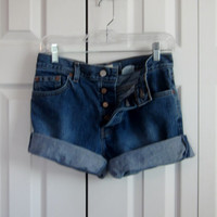 Vintage Gap Button Fly Shorts, Cut Off Denim Shorts, Jean Shorts, Gap Cutoffs, Womens Size 4, Low to Mid Rise Waist 31, Hipster Grunge