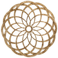 Champagne Adrina Abstract Circle Metal Wall Decor | Hobby Lobby | 1134790