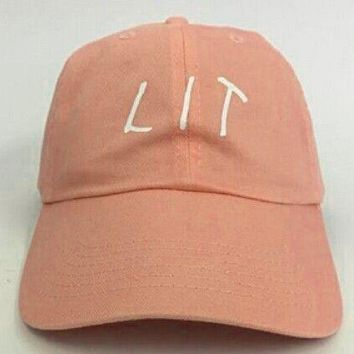 LIT Casual Sport Sunhat Embroidery Baseball Cap Hat