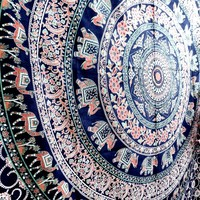 Camel Elephant Mandala Tapestry Tapestries Beach Throw Hippie Throw