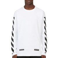 Off-white White And Black Printed Virgil Abloh Edition Shirt