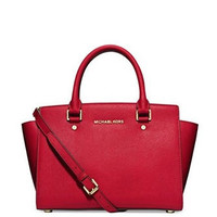 Michael Michael Kors Selma Saffiano Medium Satchel Bag