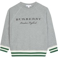 BURBERRY - Stanley striped cuff cotton sweater 4-14 years | Selfridges.com