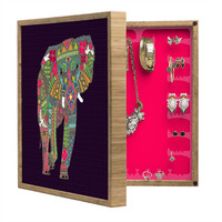 Sharon Turner Painted Elephant Purple BlingBox Petite