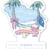 South Carolina Palm Preppy Sticker – Lauren James
