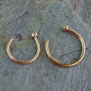 Rose Gold Nose Hoop Ring 18G 20G Rose Gold Nose Piercing