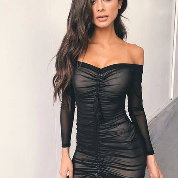 Deep V-Neck Party Dress