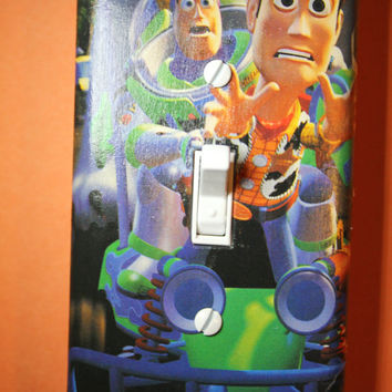 Toy Story Woody and Buzz Lightyear Light Switch Plate Cover kids boys girls bedroom room home decor