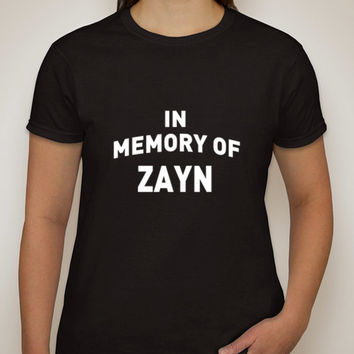 """One Direction """"In Memory of Zayn"""" T-Shirt"""