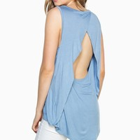 ShopSosie Style : Ready Now Tank Top in Blue