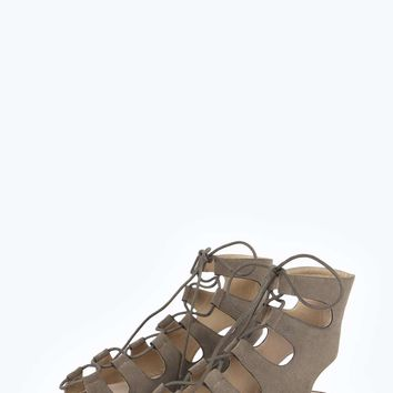Molly Ghillie Tie Gladiator Suedette Sandals