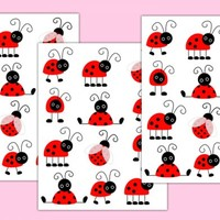 Ladybug Nursery Decal Wall Art Girl Baby Shower Decorations [303] - $12.99 : DeCamp Studios, The best selection of nursery wall murals, childrens wallpaper border, teen girl or boy wall art decals, baby premade scrapbook pages, and digital printable clip a