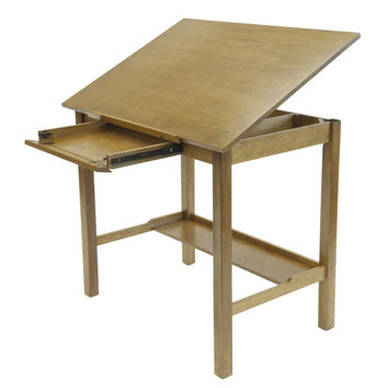 "Americana II Drafting Table 30"" x 42"" (Light Oak) (36-54H x 42.00W x 30.00D)"