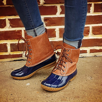 Jango Duck Boot Navy W/O Fur