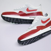 """NikeLab Air Max 1 Royal SE Running Shoes """"Wine Red&White"""" AA0869-100"""