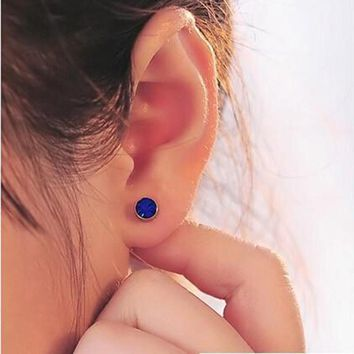 Magnetic Cartilage Hole Crystal Ear Cuff Clip Earrings Without Piercing For Men & Women On Jewelry