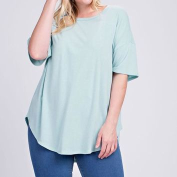 Butter Soft Mint Top | Plus