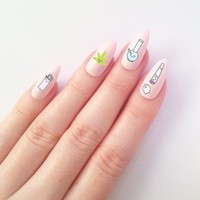 """Kawaii"" Nail Decal Set"
