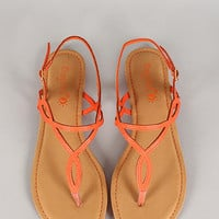 Sunny Feet Tropica Orange Sandals *FINAL SALE*